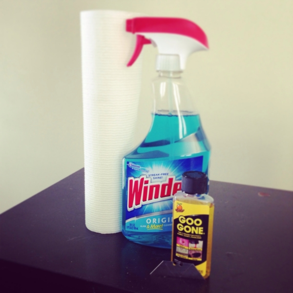 windex and goo gone