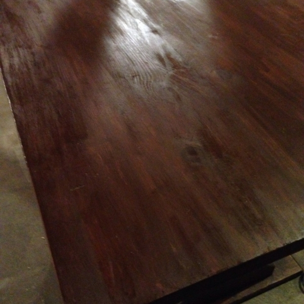 table top stained