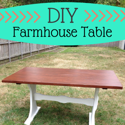 D IY Farmhouse Table Makeover
