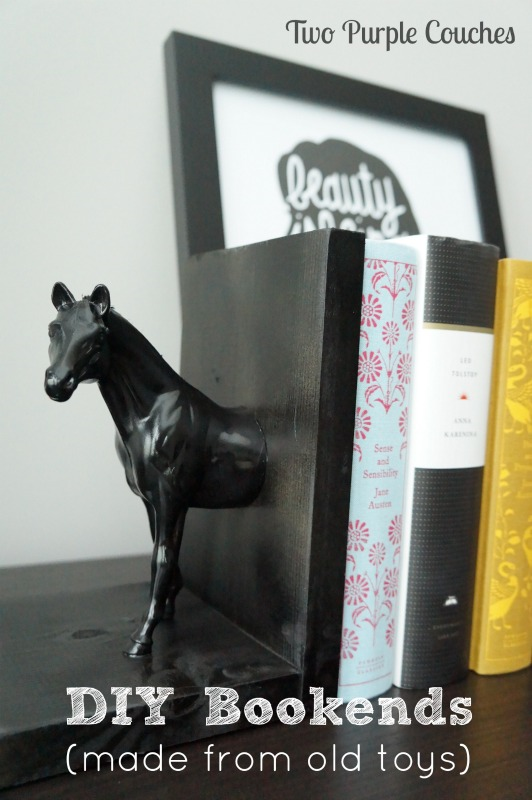 DIY Bookends Two Purple Couches