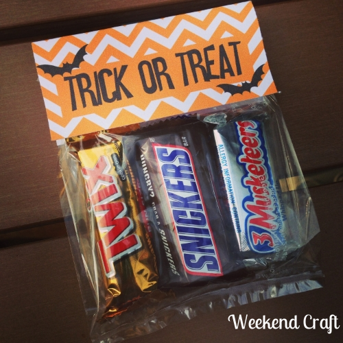 Halloween Treat Bags Weekend Craft