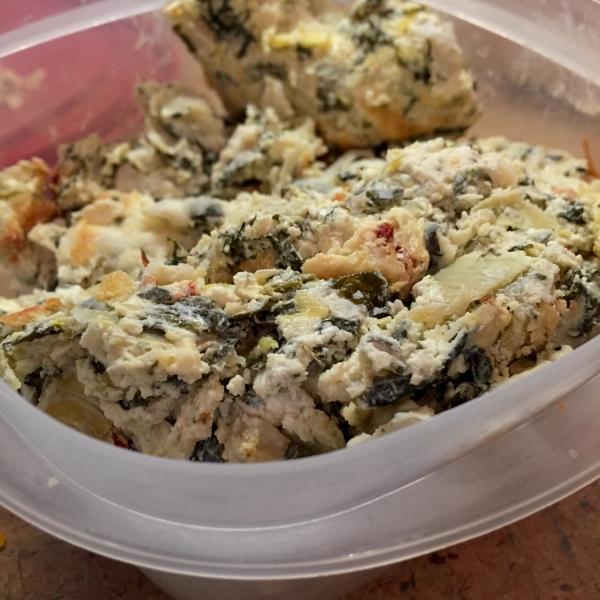Leftover Spinach Artichoke Dip