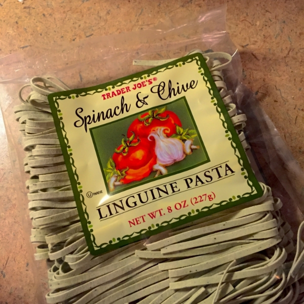 Trader Joes Spinach and Chive Pasta