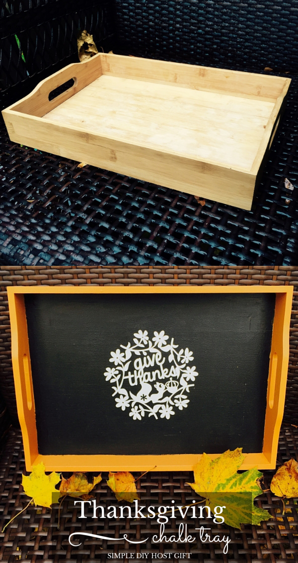 DIY Thanksgiving Chalkboard Tray