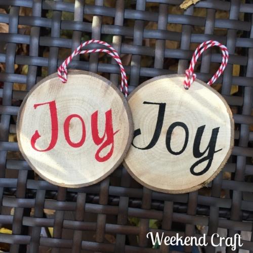 Joy DIY Christmas Ornaments