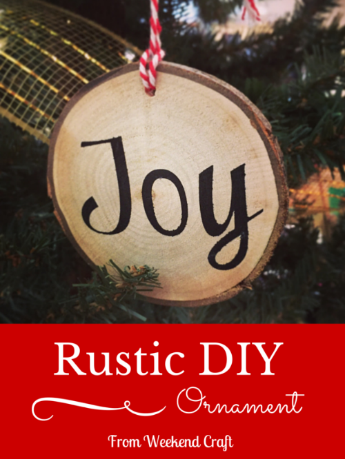 Rustic DIY Wood Slice Ornament