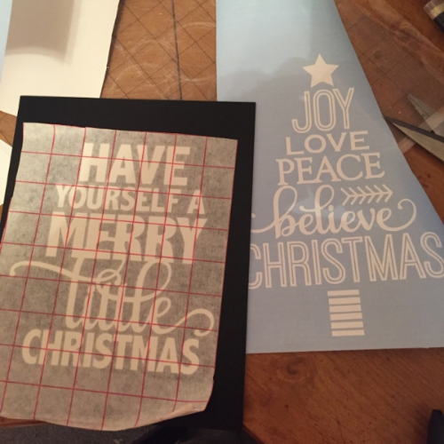 Chalkboard And Vinyl Christmas Signs Weekend Craft