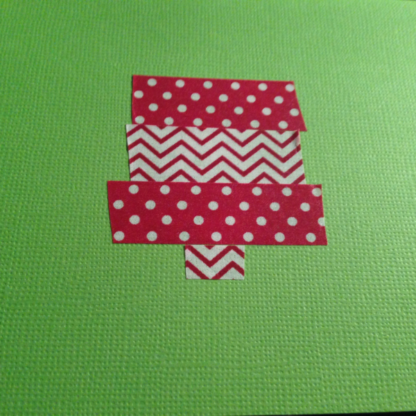 Place washi tape on card