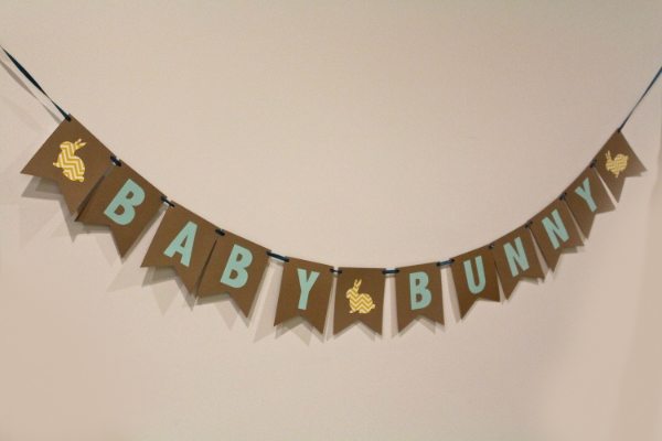 Baby Shower Banner- bunny