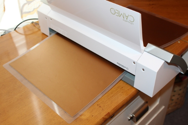 cutting a stencil with silhouette cameo
