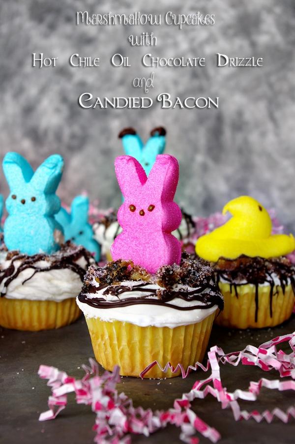 Peeps Bacon Cupcakes