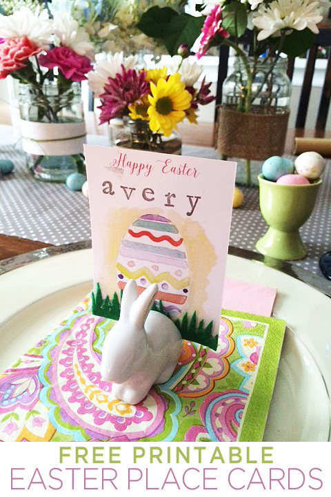 Free Printable Easter Place Cards