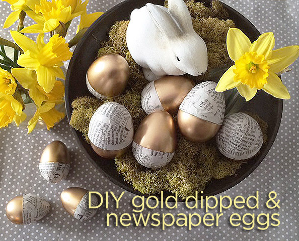 Gold Dipped and Newspaper Wrapped Eggs