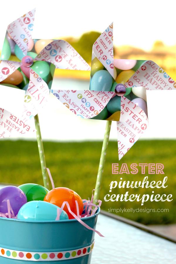 Easter Pinwheel Centerpieces