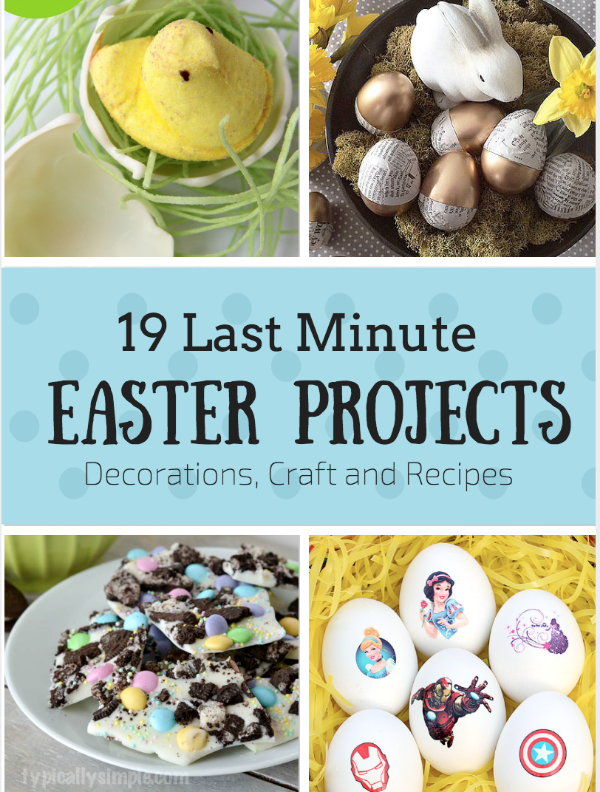 Last Minute Easter Decorations Crafts And Recipes Weekend Craft
