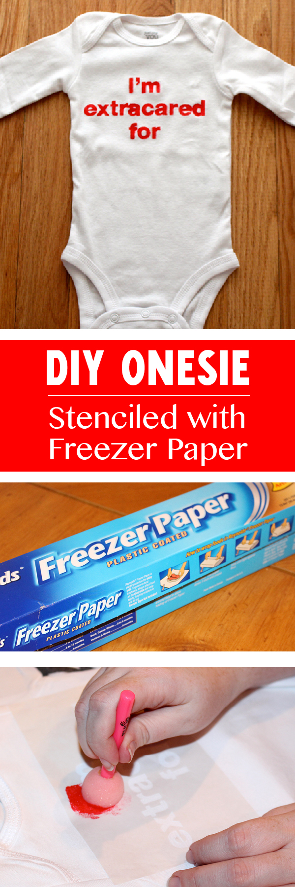 DIY Stenciled Onesie