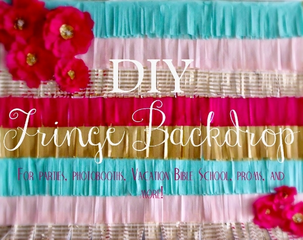 DIY Fringe backdrops for photo booths