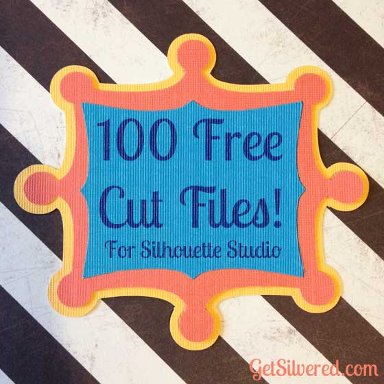 100 Free Silhouette Cut Files from Get Silvered
