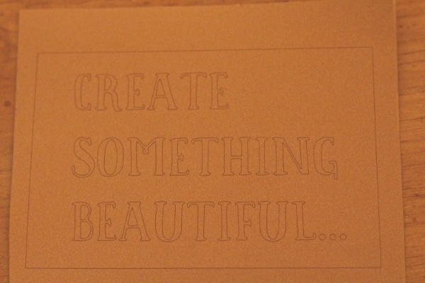 Create Something Beautiful Vinyl