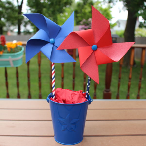 DIY July 4th Pinwheels