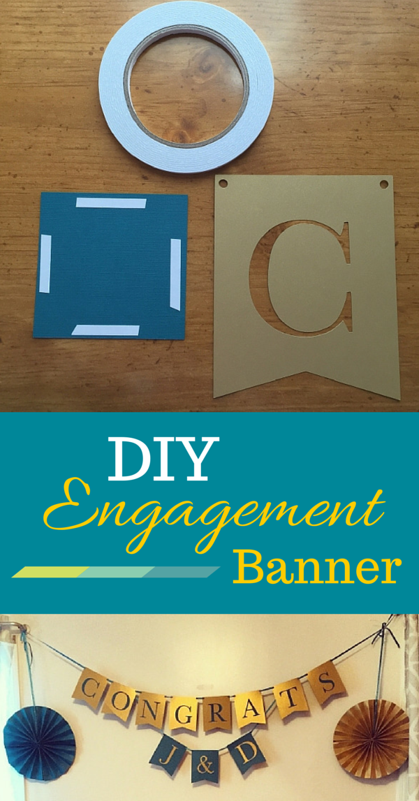 DIY Engagement Banner