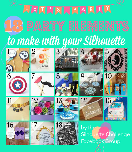 18 Party Ideas made with a silhouette