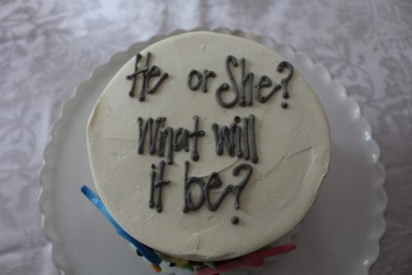 he or she what will it be gender reveal cake
