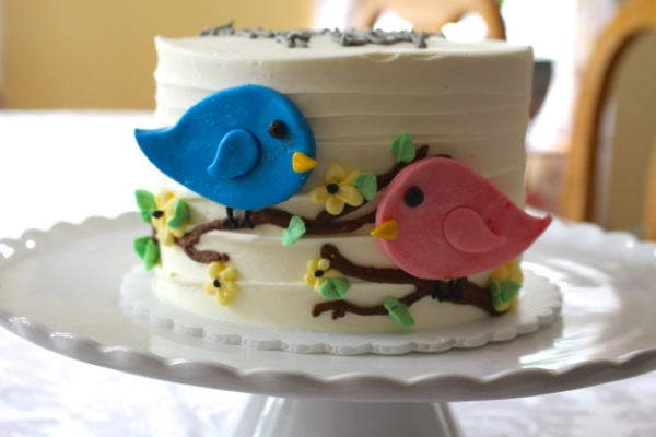 Bird Gender reveal cake