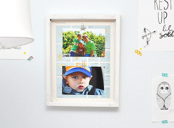 Map Photo Frame Background