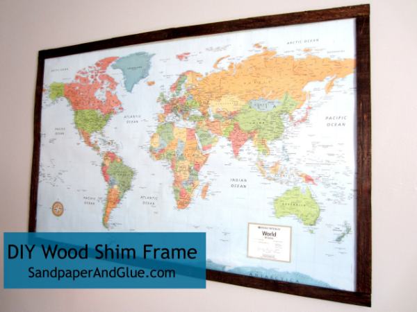 DIY Wood Shim Frame for Large Map