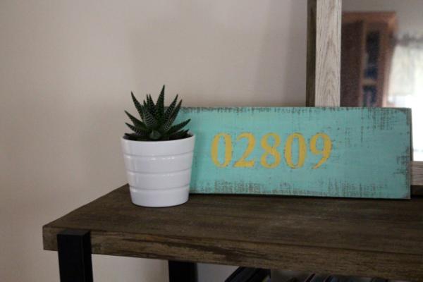 DIY Zip Code Pallet Sign