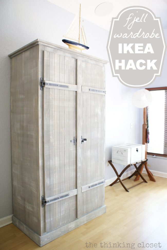Ikea hack with pallet shelves