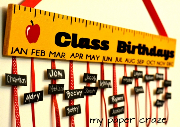 Teacher Appreciation Gift Class Birthdays