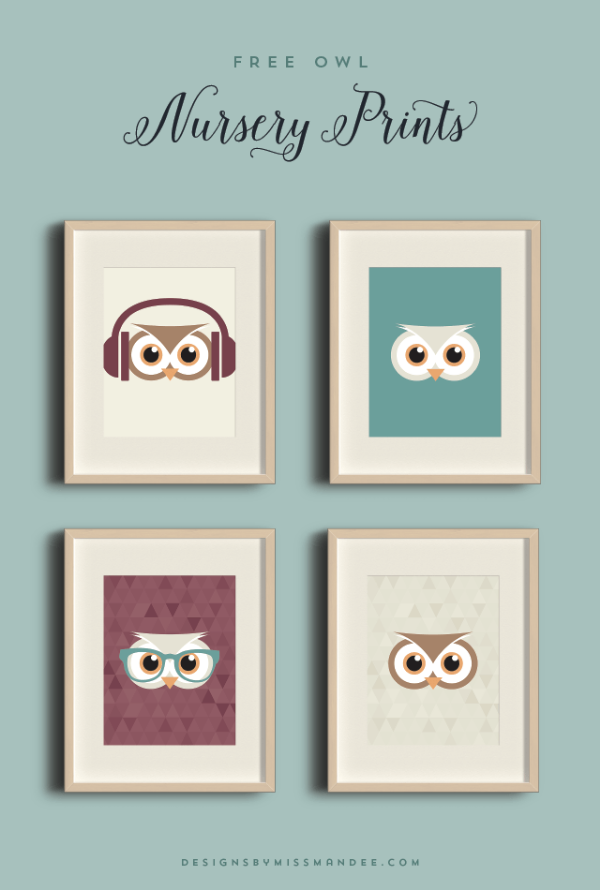 Owl Nursery Prints