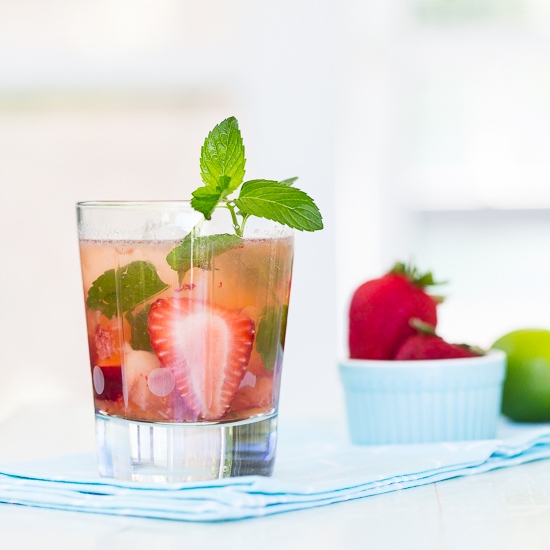 Strawberry Mint Mojito