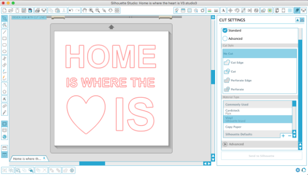 How to stencil a pallet sign and free cut file weekend craft in silhouette studio i created the home is where the heart is design which you can download the free cut file too for both v3 and v2 spiritdancerdesigns Images
