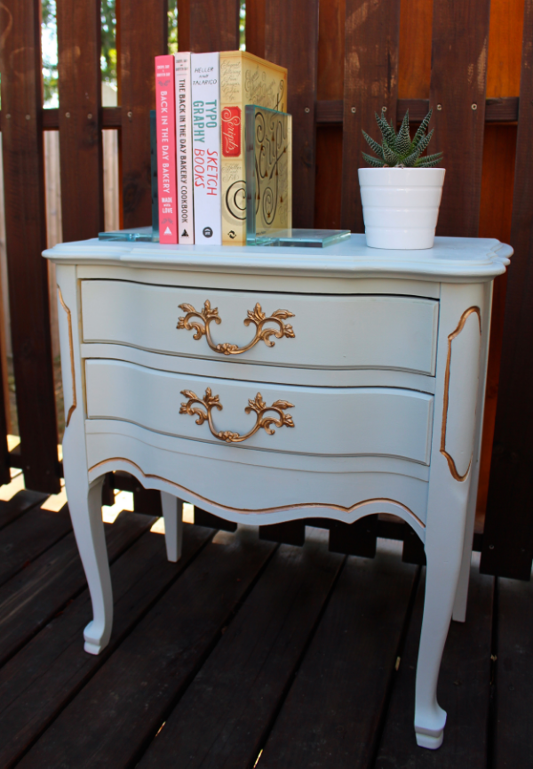 French Provincial End Table Makeover Weekend Craft