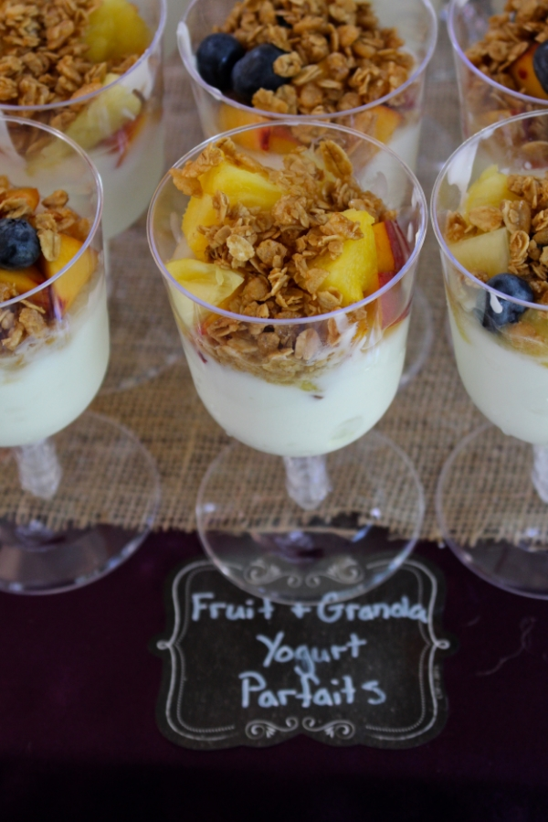 Peach Fruit and Yogurt Parfaits