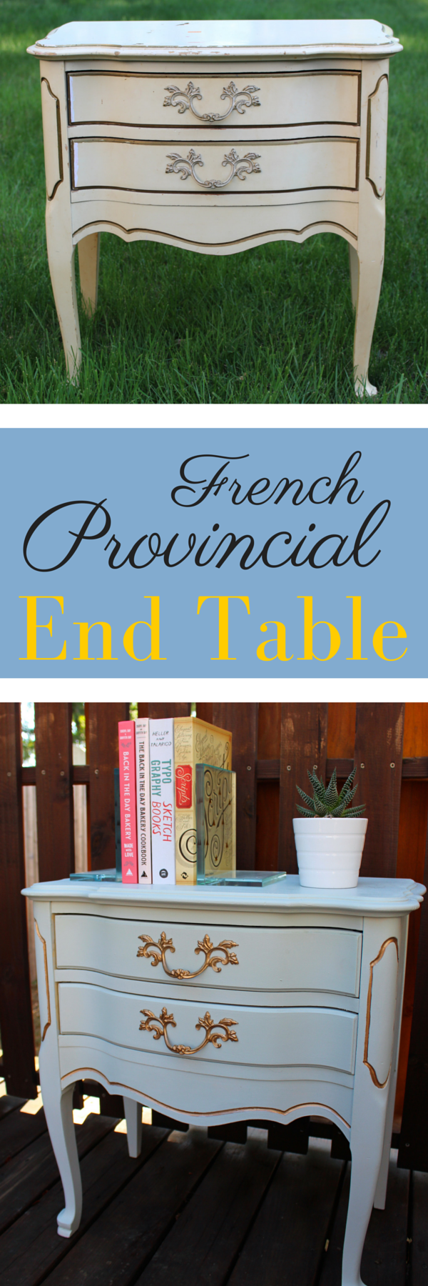 French Provinicial End Table