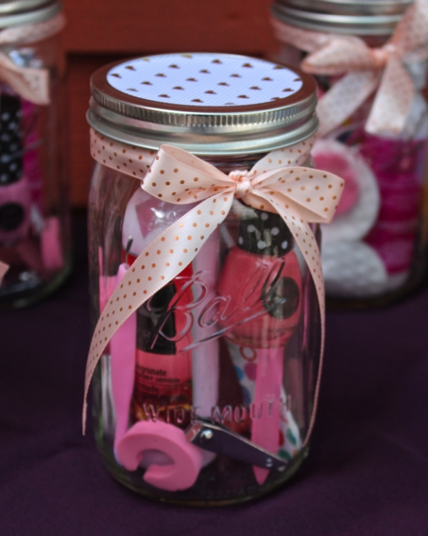 Manicure Or Pedicure In A Mason Jar Gift Idea