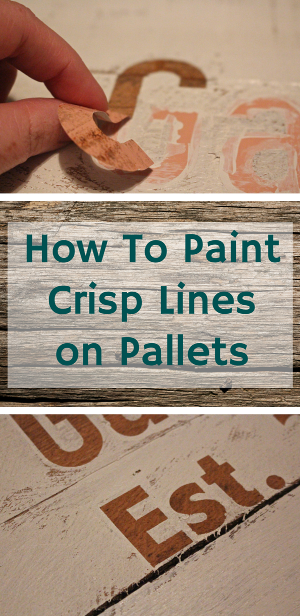 How to Paint Crisp Lines on Pallets