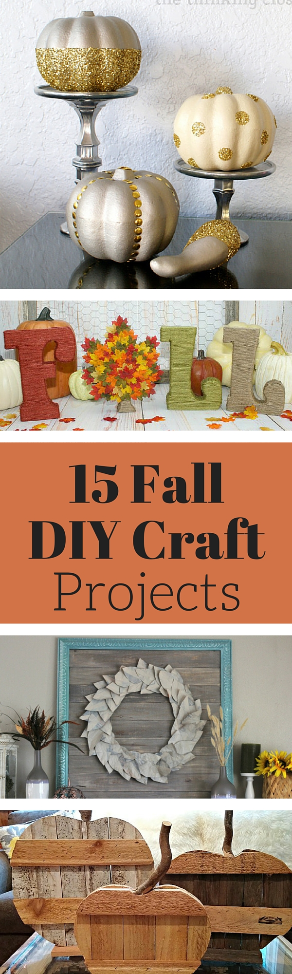 Fall crafts and diy projects weekend craft for Fall diy crafts pinterest