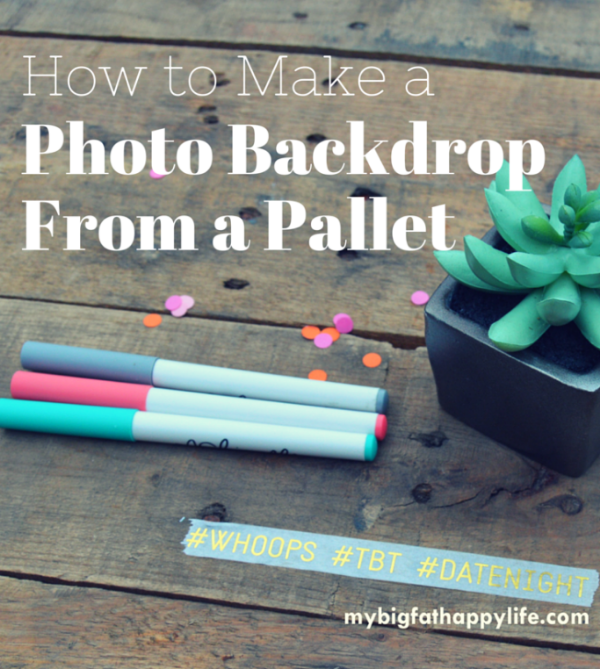 How to make a photo drop from a pallet