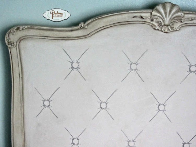 Faux tufted headboard