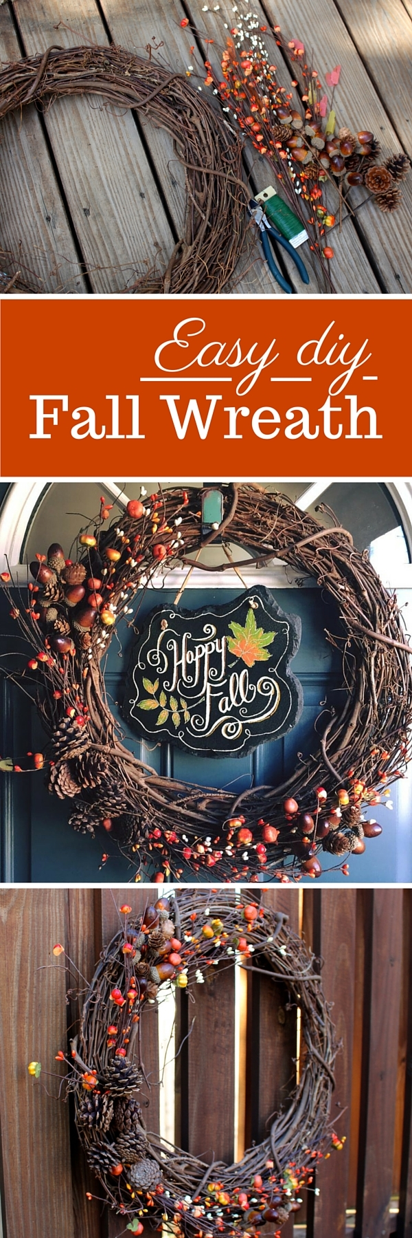 An Easy DIY Fall Wreath Tutorial