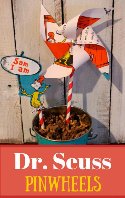 Dr Seuss DIY Pinwheels