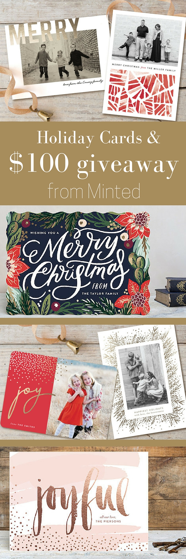 Holiday Cards and a Giveaway for $100 credit to Minted