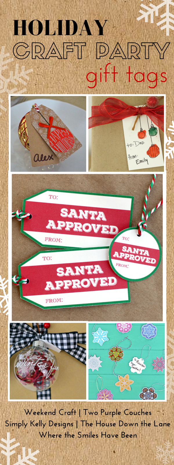 Holiday Craft Party Gift Tags