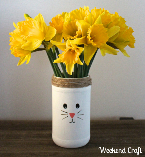 Snowman Mason Jar Vase Weekend Craft