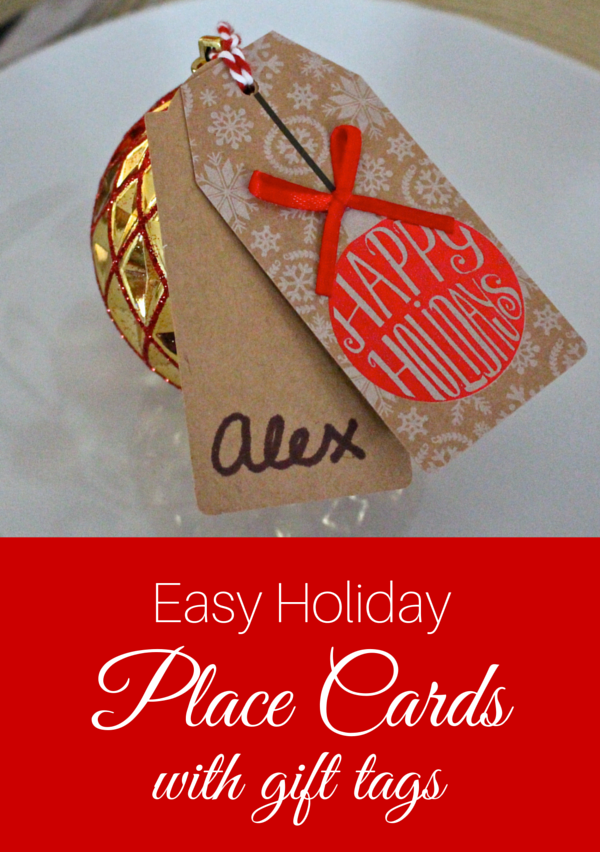 Easy Holiday Place Cards with Gift Tags